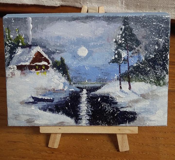 clair de lune sous la neige - Jean-marie Nicol