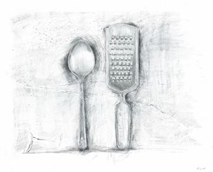 Grater and Spoon (Cutlery)