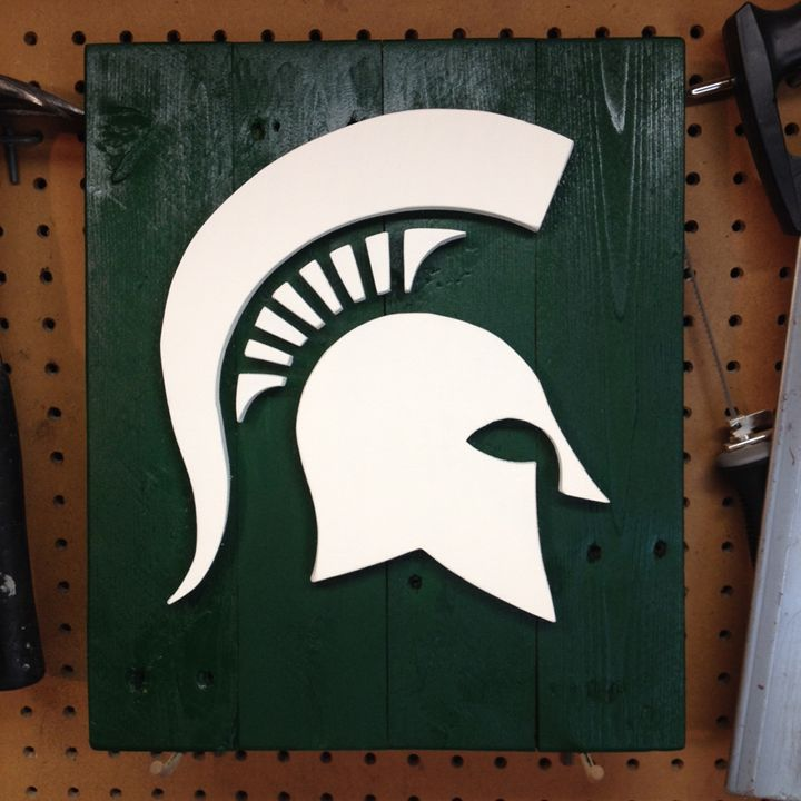 Michigan State Spartans Wood Sign - ABS Sports Art & ABS Wood Works
