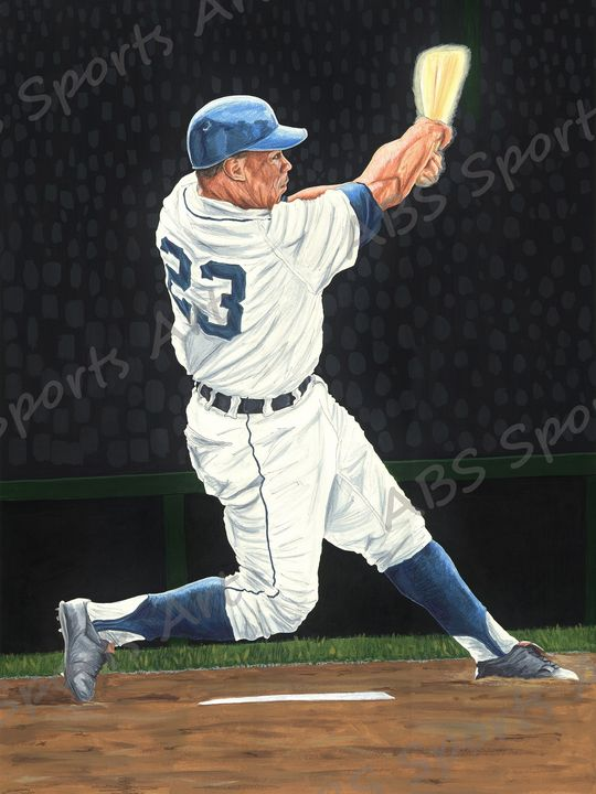 Willie Horton Fine Art Print - ABS Sports Art & ABS Wood Works