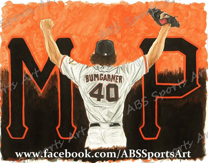 Madison Bumgarner MVP 11 x 14 Print - ABS Sports Art & ABS Wood Works