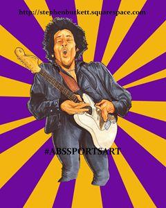 Jimi Hendrix 8 x 10 Inch Print
