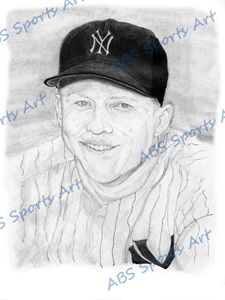Mickey Mantle 8 x 10 Inch Print