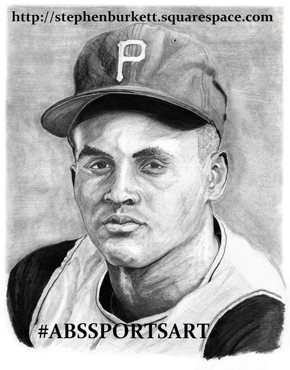 Roberto Clemente 8 x 10 Inch Print - ABS Sports Art & ABS Wood Works