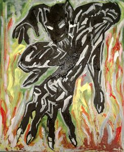 Abstracted  Black Panther - Reeds gallery