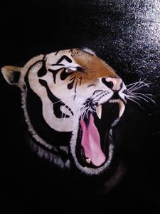 Frustrated tiger