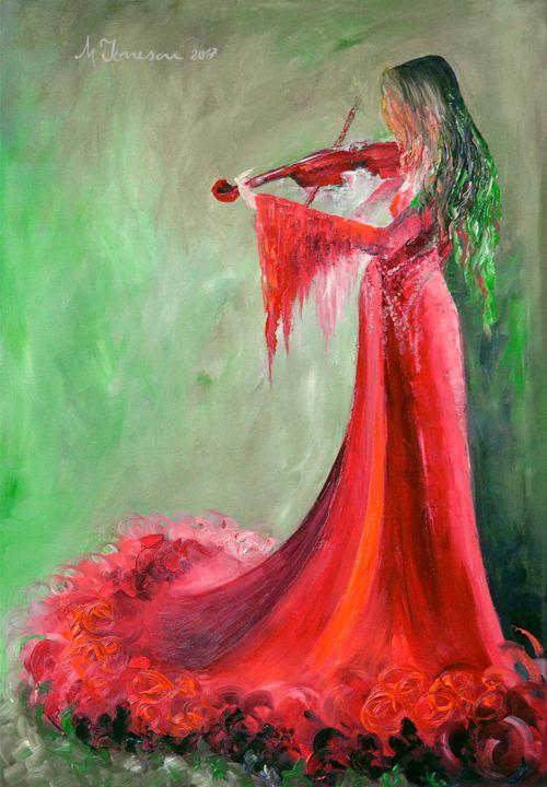 """Melody in Red"" - Mihaela Ionescu"