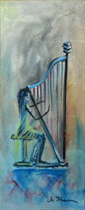 """Playing the Harp"""