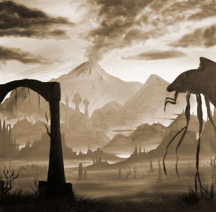 Red Mountain (sepia) - Kreatio