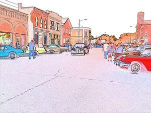 Black Coupe Cruisin Main Street