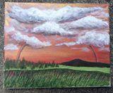 8x10 acrylic original landscape