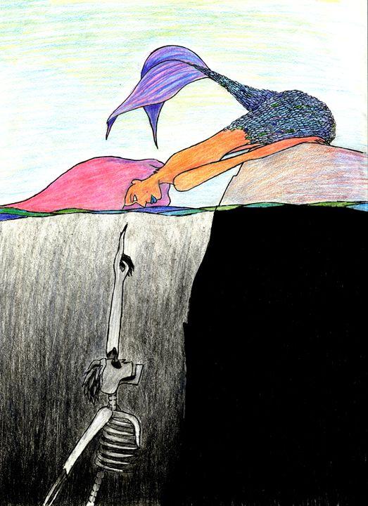 Mermaid and the Skeleton #2 - LilyKins' Art