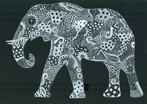 White Ink Elephant