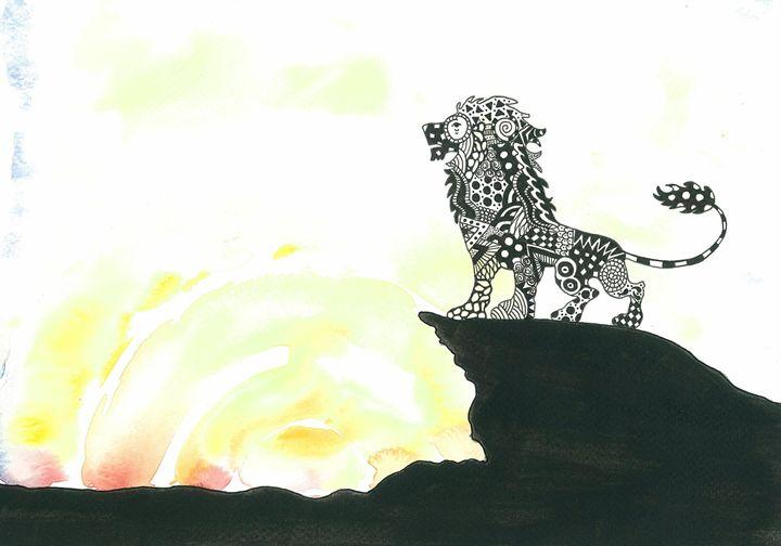 Lion patterned silhouette - Tinker Art