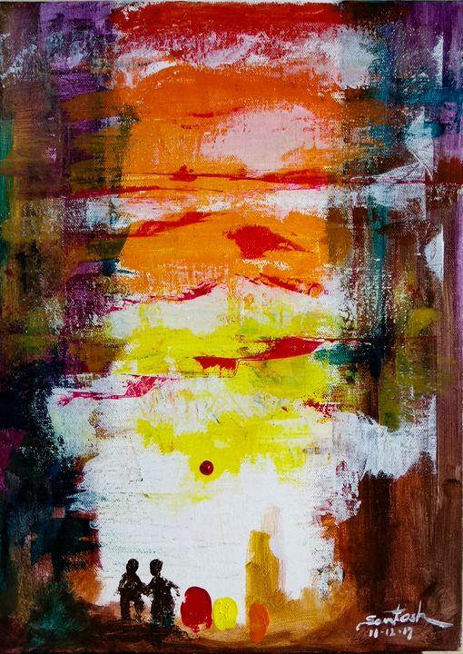 Abstract - Santosh Mane Paintings