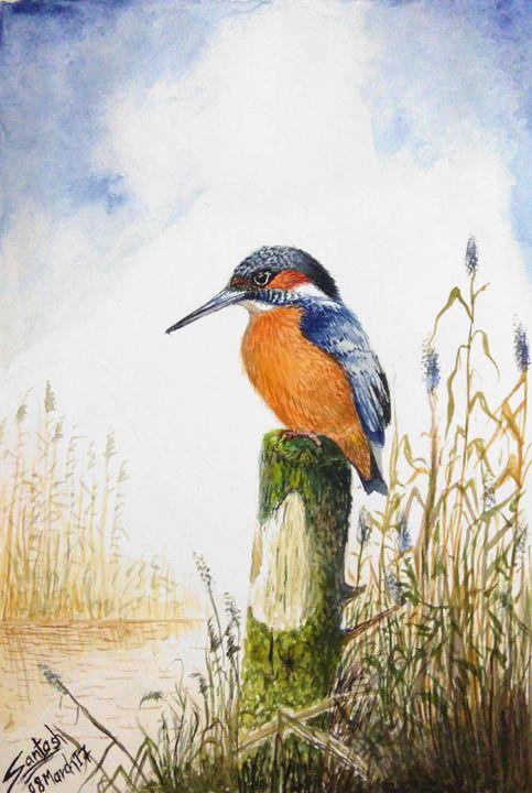 Kingfisher - Santosh Mane Paintings