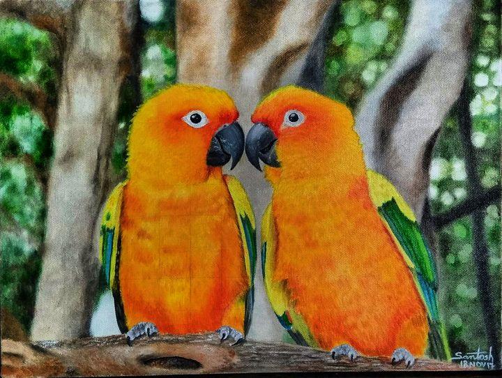 love birds - Santosh Mane Paintings