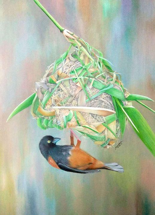 Sweet Home - Santosh Mane Paintings