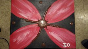 Red/Brown 3D Flower