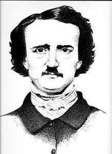 Edgar Allen Poe Stipple