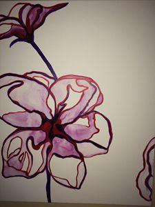 Modern Art Flowers. Trio