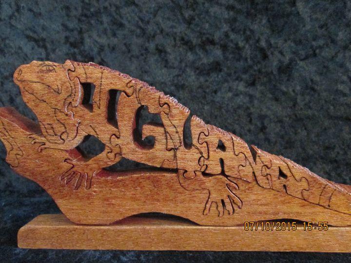 Wordimal iguana Puzzle Handmade - PXWoodNJoys