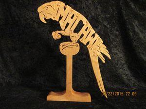 Wooden Wordimal Macaw Puzzle