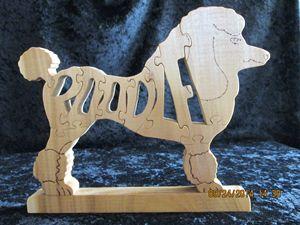 Wordimal Poodle Wooden Handmade