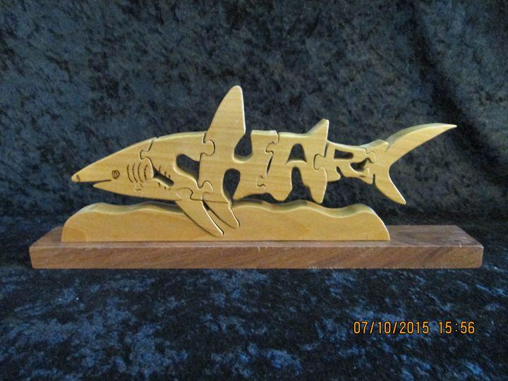 Wordimal Wooden Shark Puzzle - PXWoodNJoys