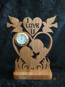 Mini clock-I love you couple - PXWoodNJoys