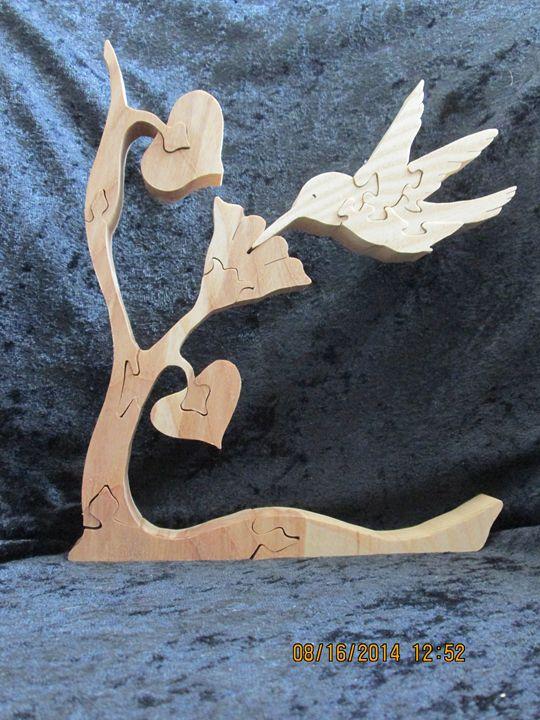 Hummingbird Sip of Nectar Stand Alon - PXWoodNJoys