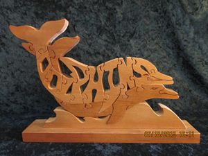 Wordimal Dolphins Wooden Puzzle