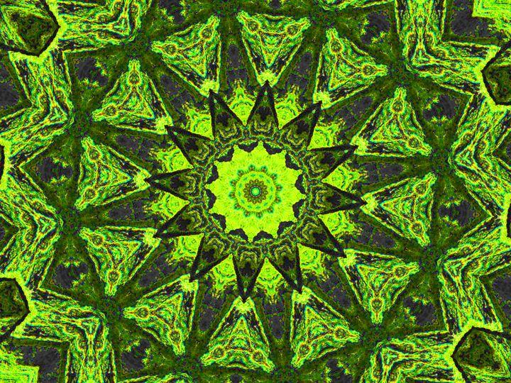 Light Green Owl Triangles - Museum of A Lot of Art MOLOA