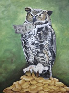 Wealth attracting owl