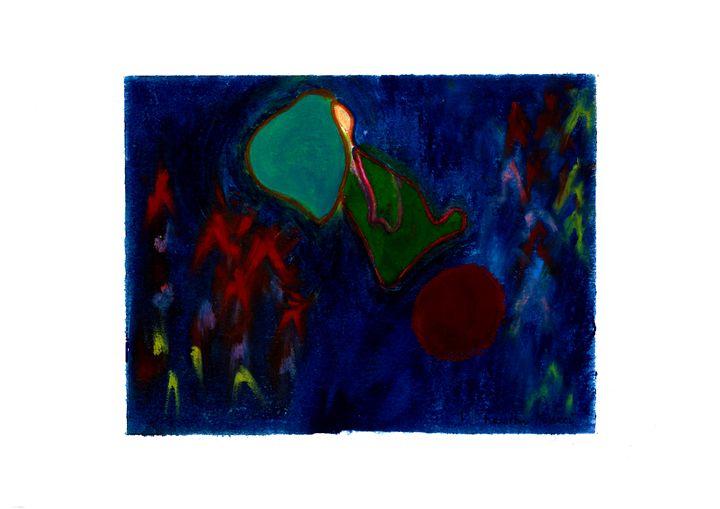 Bleu nuit en ballon rouge - hhh