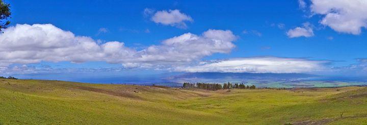 Wide Open Hills & Blue Sky - Maui - LuckyPhotos