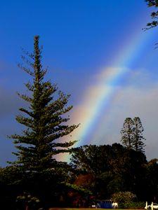 Rainbow Ladder in Blue Sky