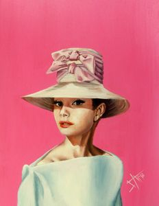 Believe in Pink , Audrey Hepburn - SAM - Art work by Salma Nasreldin