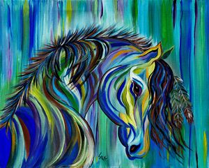 Paint Native American Horse