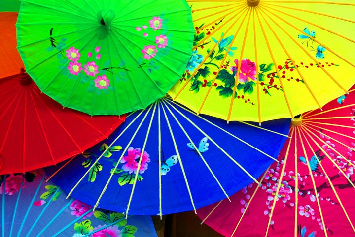 Colorfully Painted Umbrellas - John McEvoy Photographer