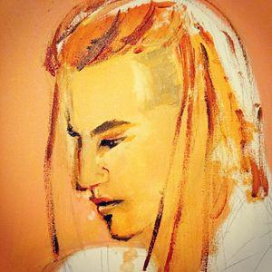 Unfinished dreadlocks man portrait