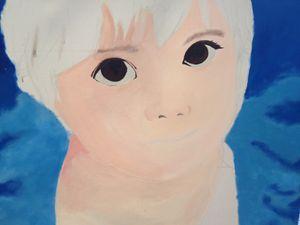 unfinished girl face portrait