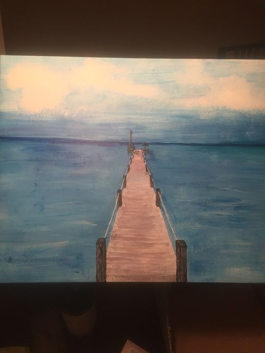 Caribbean dock - Ben Cooke paintings