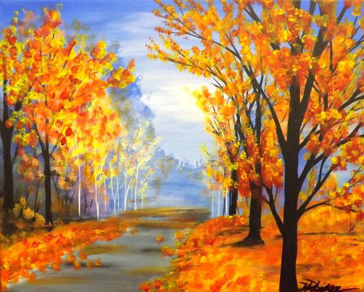 Autumn Trail - PaintingsByDarren