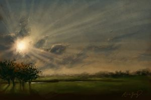 God Rays - Alicia Young Art