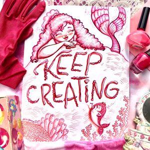 Keep Creating, Pink staging