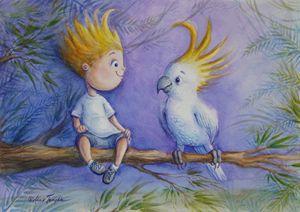 Cockatoo Comrades - Alicia Young Art