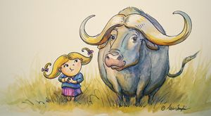 Water Buffalo Buddies - Alicia Young Art