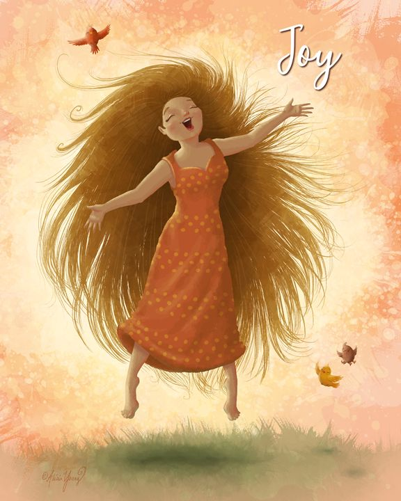 Joy (with added title) - Alicia Young Art
