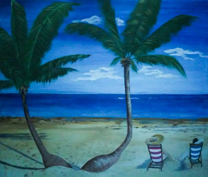 Peaceful Beach - Jacqueline Melendez Gallery